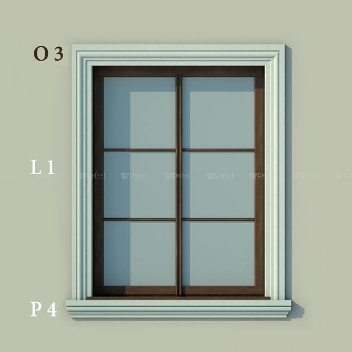 Gzymsy wokół okien